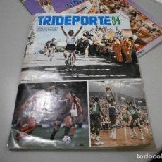 Coleccionismo deportivo: ALBUM COMPLETO TRIDEPORTE 84 FOTOS DE TODAS LAS HOJAS CICLISMO FUTBOL Y BALONCESTO. Lote 277468618
