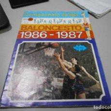Coleccionismo deportivo: ALBUM BALONCESTO 1986 1987. Lote 278268728