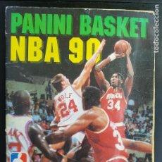Coleccionismo deportivo: ÁLBUM CROMOS BASKET PANINI NBA 90 MUY COMPLETO BALONCEST0 1990. Lote 286435158
