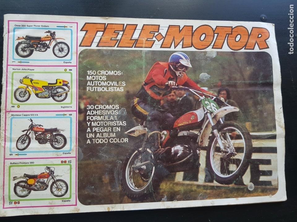 IMPOSIBLE ÁLBUM CROMOS TELE-MOTOR INCLUYE EL POSTER CENTRAL MOTOS FÚTBOL FIRMULA 1 ESTE 65% COMPLET (Coleccionismo Deportivo - Álbumes otros Deportes)