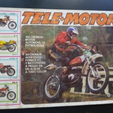 Coleccionismo deportivo: IMPOSIBLE ÁLBUM CROMOS TELE-MOTOR INCLUYE EL POSTER CENTRAL MOTOS FÚTBOL FIRMULA 1 ESTE 65% COMPLET. Lote 286440248