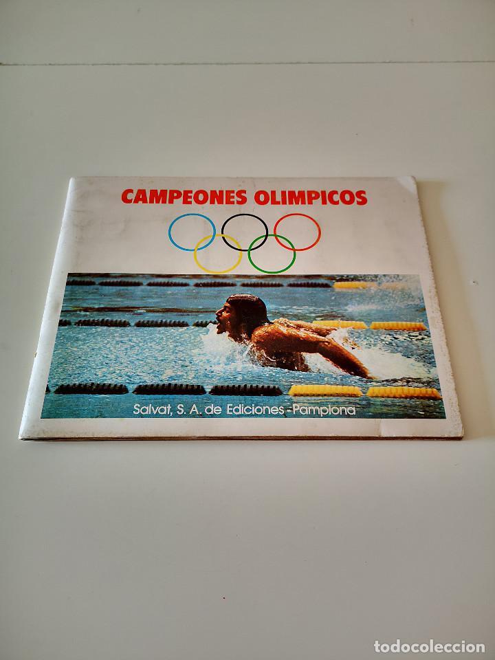 ALBUM DE CROMOS COMPLETO CAMPEONES OLÍMPICOS DEPORTES SALVAT PAMPLONA AÑO 1973 (Coleccionismo Deportivo - Álbumes otros Deportes)
