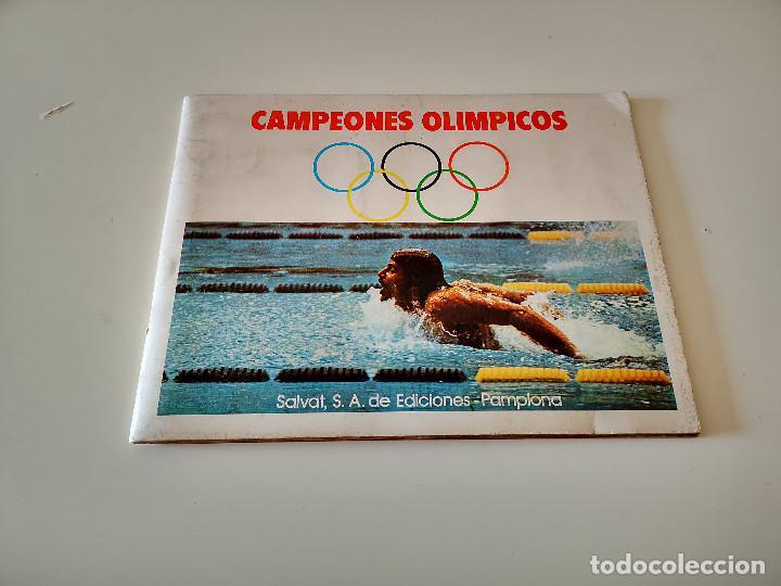 Coleccionismo deportivo: ALBUM DE CROMOS COMPLETO CAMPEONES OLÍMPICOS DEPORTES SALVAT PAMPLONA AÑO 1973 - Foto 2 - 287104218