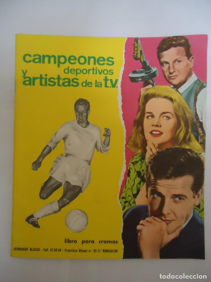 ALBUM VACIO CAMPEONES DEPORTIVOS Y ARTISTAS DE LA T.V., EDITORIAL FHER. AÑO 1966. RARO (Coleccionismo Deportivo - Álbumes otros Deportes)