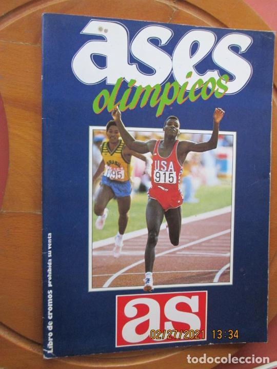 ASES OLÍMPICOS - ÁLBUM AS - AÑO 1988 - TIENE 31 CROMOS. (Coleccionismo Deportivo - Álbumes otros Deportes)
