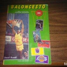 Coleccionismo deportivo: BALONCESTO 88 (ED. MERCHANTE 1988) - ALBUM CON 212 CROMOS (SOLO FALTAN 2 PARA COMPLETAR). Lote 289418518