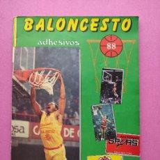 Coleccionismo deportivo: ALBUM BALONCESTO 1988 - CROMOS LIGA ACB 87/88 NBA 1 JORDAN STICKER BASKET - MERCHANTE CONVERSE. Lote 290778273