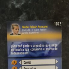 Coleccionismo deportivo: N° 1072 ASSMANN MUNDICROMO 09/10 LIGA 2009/2010. Lote 291859773