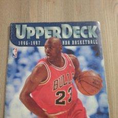 Coleccionismo deportivo: ALBUM PLANCHA UPPER DECK 1996/1997 PORTADA JORDAN 23.. Lote 293508738