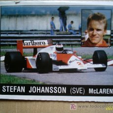 Coleccionismo deportivo: CROMO DE MOTOR ADVENTURES. PANINI. STEFAN JOHANSSON. MCLAREN. PERFECTO . Lote 5445936