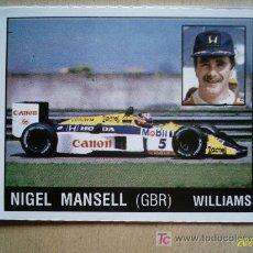 Coleccionismo deportivo: CROMO DE MOTOR ADVENTURES. PANINI. NIGEL MANSELL. WILLIAMS. PERFECTO . Lote 5445953
