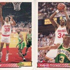 Coleccionismo deportivo: 2 CROMOS EQUIPO ROCKETS-UPPER DECK 92/93. Lote 5653827