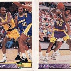 Coleccionismo deportivo: 2 CROMOS EQUIPO LAKERS-UPPER DECK 92/93. Lote 5653855
