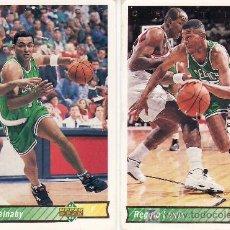 Coleccionismo deportivo: 2 CROMOS EQUIPO CELTICS-UPPER DECK 92/93. Lote 5653867