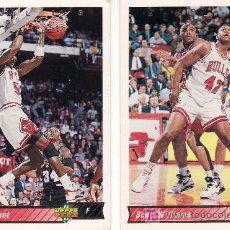 Coleccionismo deportivo: 2 CROMOS EQUIPO BULLS-UPPER DECK 92/93. Lote 5653871