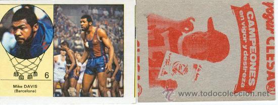 LOTE DE 6 CROMOS DE BALONCESTO (CLESA) (Coleccionismo Deportivo - Cromos otros Deportes)