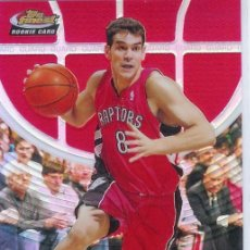 Coleccionismo deportivo: TRADING CARD CROMO 2005/06 TOPPS FINEST #114 RED REF - JOSE CALDERON - ROOKIE @169 - TORONTO. Lote 14703690
