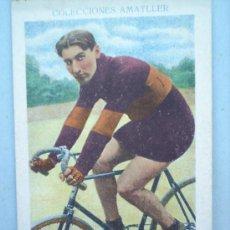 Coleccionismo deportivo: CHOCOLATE ATMATLLER-CICLISMO N.24-LINART-AÑOS 30. Lote 10787271
