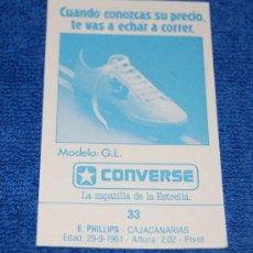 Coleccionismo deportivo: BALONCESTO - CONVERSE - J.MERCHANTE LIGA 88. Lote 26730046