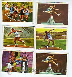 CROMOS NESTLE -EL DEPORTE VISTO POR SUS ASES- ATLETISMO - UNIDAD 0'70 EUROS (Coleccionismo Deportivo - Cromos otros Deportes)