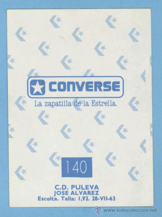 BALONCESTO - CONVERSE - J.MERCHANTE LIGA 89 (Coleccionismo Deportivo - Cromos otros Deportes)