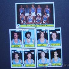Coleccionismo deportivo: CAJA DE RONDA - BASKET - 6 CROMOS PLANTILLA 84/85 (COMPLETO) - FUTBOL-BASKET 85 DE PANINI. Lote 23327115