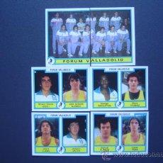 Coleccionismo deportivo: FORUM VALLADOLID - BASKET - 6 CROMOS PLANTILLA 84/85 (COMPLETO) - FUTBOL-BASKET 85 DE PANINI. Lote 23327120