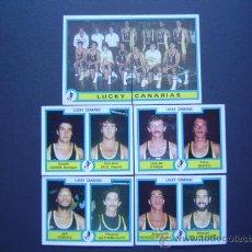 Coleccionismo deportivo: LUCKY CANARIAS - BASKET - 6 CROMOS PLANTILLA 84/85 (COMPLETO) - FUTBOL-BASKET 85 DE PANINI. Lote 23327122