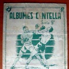 Coleccionismo deportivo: ALBUMES CENTELLA - BOXEO - EDITORIAL HISPANO AMERICANA 1941-1942, 41-42. Lote 22791098