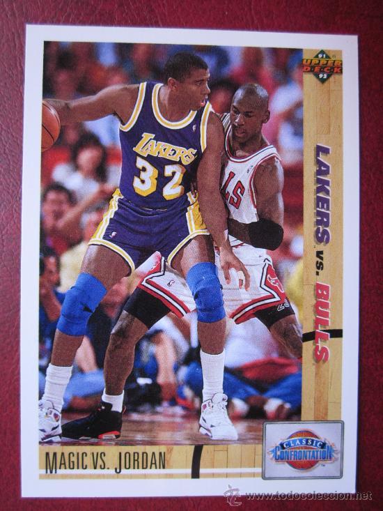 MAGIC JOHNSON VS. MICHAEL JORDAN - BALONCESTO BASKET NBA - AÑO 1991 (Coleccionismo Deportivo - Cromos otros Deportes)