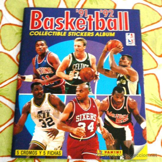 ALBUM BALONCESTO N.B.A. - PANINI 91/92 (Coleccionismo Deportivo - Cromos otros Deportes)