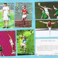 Coleccionismo deportivo: LOTE DE CROMOS. CROMOS SUELTOS; 1,50 €. ATLETAS TOKIO 1964. DISGRA FHER.. Lote 44172884