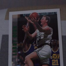 Coleccionismo deportivo: 10 LARRY BIRD BOSTON CELTICS NBA CARD NBA HOOPS 1992. Lote 31190690