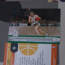 Coleccionismo deportivo: 20 LARRY BIRD BOSTON CELTICS NBA CARD TOPPS 2008. Lote 31190797