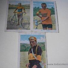 Coleccionismo deportivo: 3 CROMOS DE CICLISTAS. - CHOCOLATES AMATLLER , NºS 8, 10 Y 19. Lote 31348116