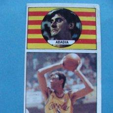 Coleccionismo deportivo: CROMO DE BALONCESTO. CACAOLAT. TATO ABADÍA 29. AÑO 1986 MERCHANTE CONVERSE. . Lote 33544074