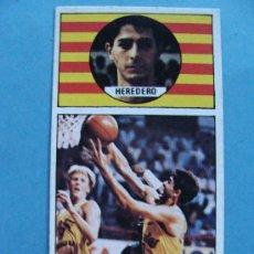 Coleccionismo deportivo: CROMO DE BALONCESTO. CACAOLAT. HEREDERO 30. AÑO 1986 MERCHANTE CONVERSE. . Lote 33544078