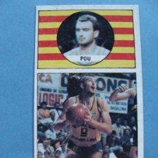 Coleccionismo deportivo: CROMO DE BALONCESTO. CACAOLAT. MIGUEL POU 36. AÑO 1986 MERCHANTE CONVERSE. . Lote 33544084