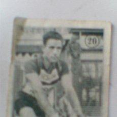 Coleccionismo deportivo: CROMO ANTIGUO ALBUM CICLISMO DESCONOZCO CUAL BRAULIO AZORIN Nº 20. Lote 33634015