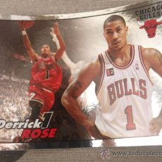 Coleccionismo deportivo: 57 DERRICK ROSE CHICAGO BULLS CROMO STICKER CARD BALONCESTO NBA BASKET PANINI 2009-10. Lote 33800080