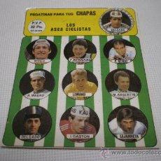 Coleccionismo deportivo: LOS ASES CICLISTAS - PEGATINAS PARA CHAPAS-DELGADO/MOSE/BERNARD/LEMOND-1556 7.. Lote 125960983