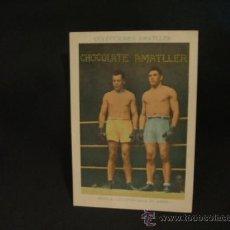 Coleccionismo deportivo: CROMO DE BOXEO - SPALLA - UZCUDUN (ENTRENANDOSE) - Nº 22 - CHOCOLATE AMATLLER - . Lote 37158944