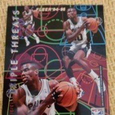 Coleccionismo deportivo: NBA FLEER 94-95 - TRIPLE THREATS - DAVID ROBINSON/SHAWN KEMP. Lote 39029483