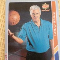 Coleccionismo deportivo: MUNDICROMO FICHAS ACB 95. - 208 - LOLO SAINZ. Lote 39060481