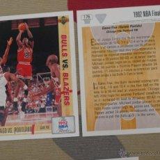 Coleccionismo deportivo: 176 CARD CROMO BALONCESTO NBA ACB MICHAEL JORDAN CHICAGO BULLS UPPER DECK 1991-92 NUEVO. Lote 210589660