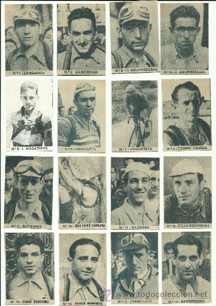Coleccionismo deportivo: ASES DEL PEDAL - CICLISMO - COL. COMPLETA 40 CR.-PUBLI. LA COLMENA -BILBAO - VER FOTOS -(CR-266) - Foto 2 - 40085703