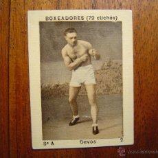 Coleccionismo deportivo: DEVOS - BOXEADORES (72 CLICHÉS) - NÚMERO 2 - BOXEO . Lote 40828059
