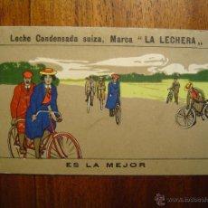 Coleccionismo deportivo: CICLISMO - CROMO COLECCIÓN SPORT NÚM 4 - LA LECHERA - PRECIOSO -LA COLECCIÓN MÁS BONITA - BICICLETAS. Lote 40850999