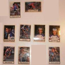 Coleccionismo deportivo: LOTE BIMBO VUELTA CICLISTA 1994, 9 CROMOS DIFERENTES SIN PEGAR. SUELTOS PREGUNTAR. Lote 39065223
