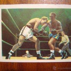 Coleccionismo deportivo: JOE LOUIS VS J. BRADDOCK (1937) - CROMO EDITADO EN 1967 - NUNCA PEGADO. Lote 41424408